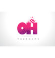 oh o h letter logo with pink purple color vector image vector image
