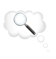 oncept search for ideas vector image vector image