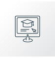 online education icon line symbol premium quality vector image vector image
