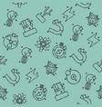 physics icons pattern vector image vector image