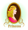 princess portrait vector image