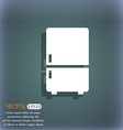 Refrigerator icon On the blue-green abstract vector image