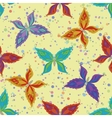 Seamless pattern colorful butterflies vector image vector image