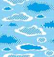 Seamless Pattern with Dotted Clouds on the Sharped vector image
