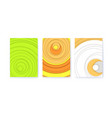 set covers with radial shapes abstract vector image
