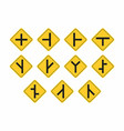 set of traffic signs vector image vector image