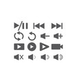 set video icons for logo design play and vector image