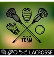 set vintage lacrosse labels and badges vector image vector image