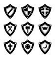 Shields black set vector image vector image