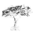 sketch black tree vector image
