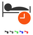 sleep time flat icon vector image vector image