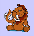 Smiling Sitting Mammoth vector image vector image