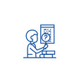 software testing line icon concept software vector image