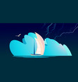 storm abstraction banner vector image