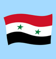 syrian national flag flying vector image