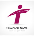 t company logo concept vector image