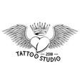 Tattoo studio design in black and white
