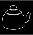 teapot it is icon vector image
