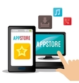 Technology mobile applications vector image