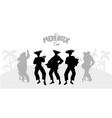 three musicians playing latin music and couples vector image