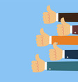 thumbs up background in flat design style vector image