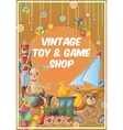 Toys Shop Poster vector image