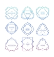 Trendy Retro Vintage Insignias Bundle vector image