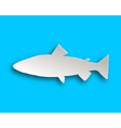 Trout paper style vector image vector image