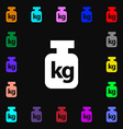 Weight icon sign Lots of colorful symbols for your vector image vector image