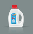 white laundry detergent bottle mock up with high vector image