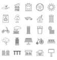 wind energy icons set outline style vector image vector image