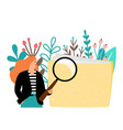 woman search file vector image