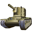 Russian tank kv2 vector image