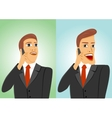 two businessmen talking on the phone vector image