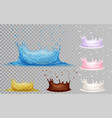 set of water crown with drops vector image
