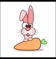 cartoon funny rabbit vector image