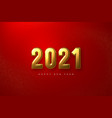 2021 new year sign vector image vector image