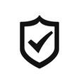 active shield icon vector image vector image
