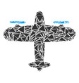 aircraft collage of triangles vector image