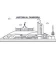 australia canberra architecture line skyline vector image vector image