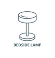 bedside lamp line icon bedside lamp vector image vector image