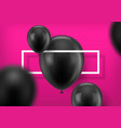 black balls on pink background vector image vector image