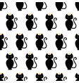 black cat kitty with golden crown pattern vector image vector image