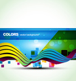 blue color banner vector image vector image