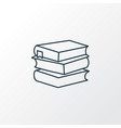 books icon line symbol premium quality isolated vector image vector image