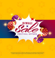 bright diwali sale and discount poster design vector image vector image