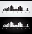 brisbane skyline and landmarks silhouette vector image vector image