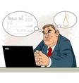 businessman in depression vector image vector image