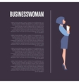 Businesswoman banner with space for text vector image vector image