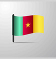 cameroon waving shiny flag design vector image vector image